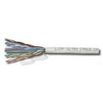 สาย Lan LINK CAT6 UTP, PE OUTDOOR w/Cross Filler, 23 AWG, w/Drop Wire (Single Jacket)