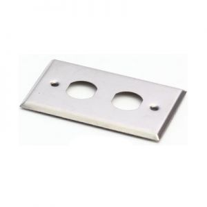 LINK Stainless FACE PLATE 2 Outlet